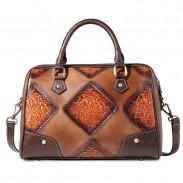 Bolso de viaje hecho a mano original retro del bolso del bolso del viaje del cepillo que graba en relieve