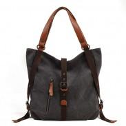 Bolso de hombro del bolso de la mochila multifuncional del diseño de la lona del diseño único