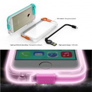Funda transparente para iPhone 5 / 5s con color caramelo LED