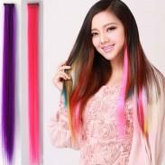 Muchos colores disponibles Extensiones de trama de cabello Clip