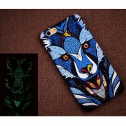 Creativo Luminiscente Matte Panda Tiger Hard Volver Funda para Iphone 6/6 plus