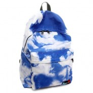 Fresco Azul Cielo Y Nubes Universidad Mochilas