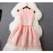 Falda del chaleco de vestir falda bordada dos piezas de moda