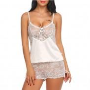 Sexy Mesh camisón Tentación Sling Lace Ropa interior Perspectiva Mujeres Lencería íntima