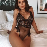Sexy Eyelash Lace Jumpsuit Black Leaves Hollow-out Lencería Mujer