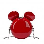 Linda Mickey Ratón Oreja Dibujos animados Pequeña Redondo Bolsa de hombro