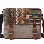 Bolso de hombro del bolso de Crossbody de la lona del tótem al aire libre del estilo popular de la vendimia