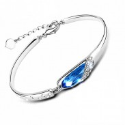 Elegante pulsera de cristal de diamante
