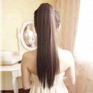 Hotsale seda recta cola de caballo pelo
