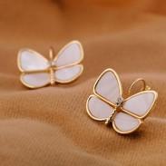 Natural Cáscara Mariposa Pendiente