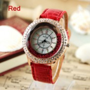 New fashion style rhinestone trim retro watch-more color to choose