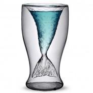 Taza de cristal de sirena transparente regalo de la personalidad