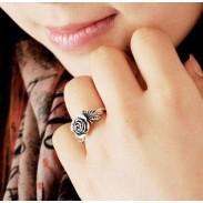 Moda Linda Rosa anillo