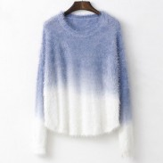 Suéter suave elástico de color mohair degradado