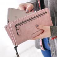 Cartera cuadrada de niña retro PU Love Freedom Letras monedero de cremallera Celular bolsa de embrague