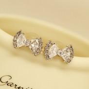 Moda Circón Diamante de imitación Arco Semental Aretes