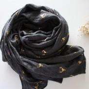 Bufanda de mantón de algodón de ciervo dorado de lado cálido