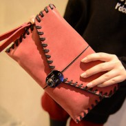Vendimia Mate Sobre Bolsa de mensajero De coser Hilo bolso de embrague