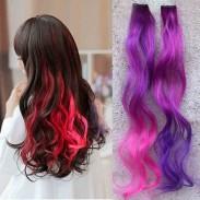 Magic ondulado Gradient Clips extensiones de cabello