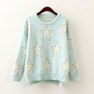Sudadera estrella dulce suéter de manga larga