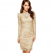 Vestido de encaje fino y elegante para el club nocturno