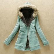 Chaqueta de invierno delgada gruesa de lana de invierno