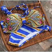 Bikini estampado Totem estampado traje de baño azul verano