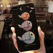 Encantador Pareja Aves Dibujos animados en relieve Iphone 6 / 6s / 6 plus / 6s plus / 7 / 7plus / 8/8 plus Iphone Case Iphone Cover