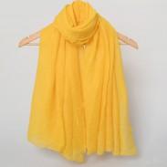 Bufanda chal de color sólido Bufanda larga doble de estampado