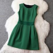 Vestido de fiesta / vestido de noche verde delgado estilo romano