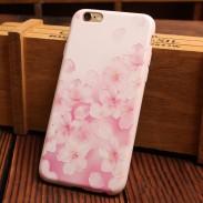 Cajas suaves de Iphone del silicón del alivio de la serie rosada de la flor del caramelo para 6/6 más