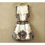 Falda chaleco sin mangas retro estilo clásico