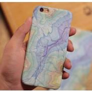 Cubierta del caso del mapa del mundo Iphone 6 S Plus