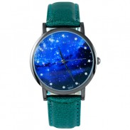 Reloj Galaxy Fashion Diamond Pattern Diamond Metal PU