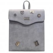 Insignias del metal de la PU de la muchacha helada retros Aleta cuadrada con la mochila de la escuela del agujero de los auriculares