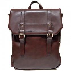 Retro Double Buckle Student Book Bag For Girl British Style Plus Size PU Leather Waterproof School BackpackMochila escolar impermeable de cuero PU de talla grande de estilo británico para niña con hebilla doble Retro