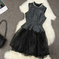 Elegante vestido de fiesta de organza y vestido de princesa