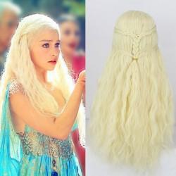 Cosplay trenzas princesa 613 pelucas de cabello rubio