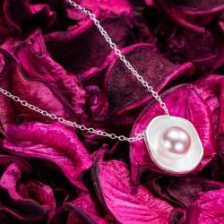 Collar Colgante de Plata con Perlas de Lotus Unique