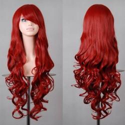 Pelucas de pelo cosplay larga onda suelta de colores