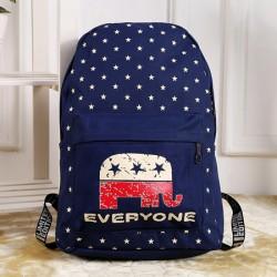 Occidental Estilo Casual Estrella Elefante Bolsa para la escuela viajar Mochila
