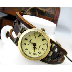 Cuerda cuerda cuerda elegante señoras cuero mano cuerda Reloj