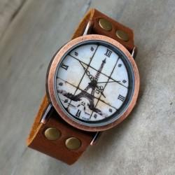 Retro Eiffel Tower Roman scale Watch