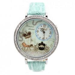 Crown Rhinestone Trim Polymer Clay Watch