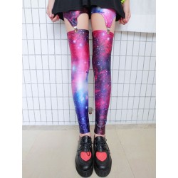 Vintage Cross &Galaxy Star &American Flag Leggings