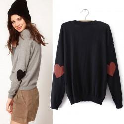 Sweet Love Heart Sleeve Sweater&Cardigan