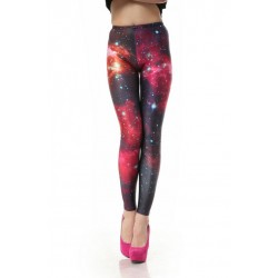 Nice Galaxy Pink Printed Gradient Leggings