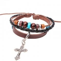 Fashion Cross Jesus Hand-beaded Bracelet