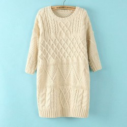New Twist Collapse Shoulder Loose Sweater&Cardigan