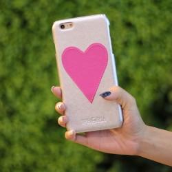 Funda original hecha a mano en forma de corazón del iPhone 6 S Plus